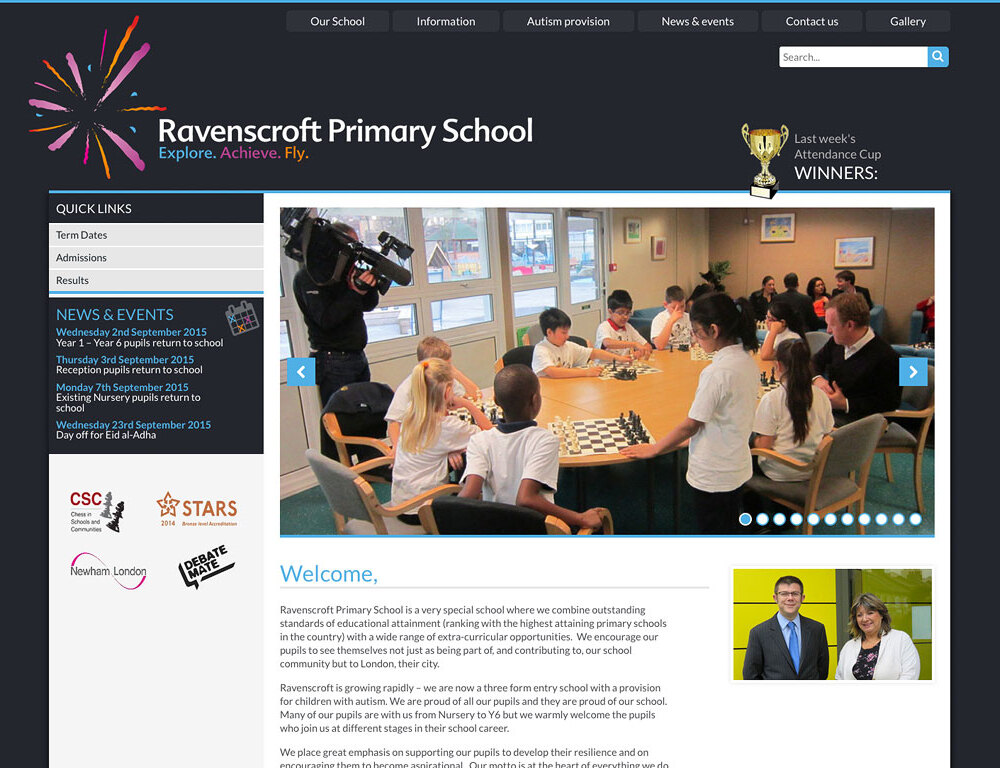 Ravenscroft Primary School - Screengrab 2
