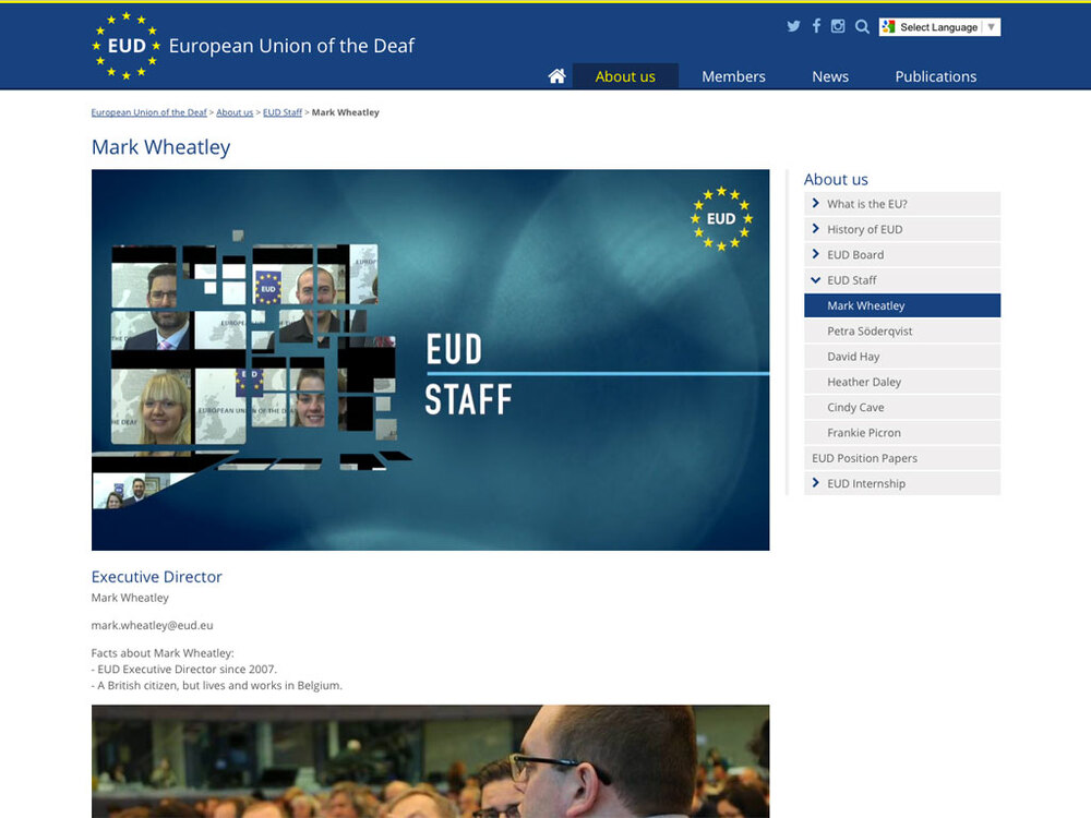 European Union of the Deaf - Screengrab 3